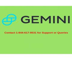 Gemini Support Number 1-844-617-9531